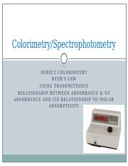 3-MLS 203_Colorimetry_Spectrophotometry