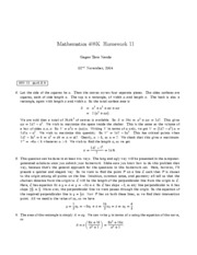 HW 11 Solutions
