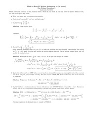 Math for Econ II Homeowkr 10 Solutions