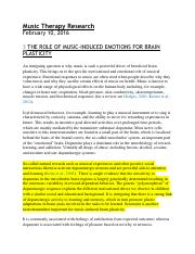 3 THE ROLE OF MUSIC-INDUCED EMOTIONS FOR BRAIN PLASTICITY