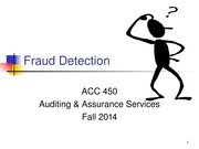 ACC 450 17 Fraud Detection Fall 14