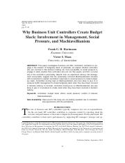 [ folder 4 ]   1. Why Business Unit Controllers Create Budget Slack Involvement in.pdf