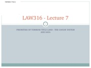 LAW316 Lecture 7