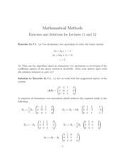 Homework - Exercises and Solutions for Lecture 11+12
