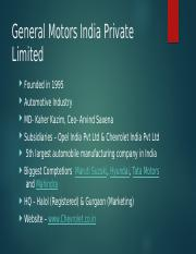 General Motors India Private Limited.pptx