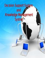 DSS and Knowledge Management System
