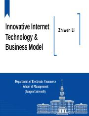 Innovative Internet Technology & Business Model-1
