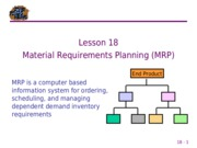 18 Material Requirements Planning
