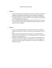 Chapter Discussion Questions