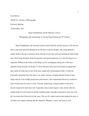 research paper outline on king tut cara decaro arth history  17 pages king tut final essay