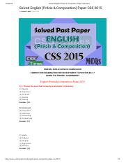 Solved English (Précis & Composition) Paper CSS 2015.pdf