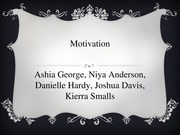 Group 1-Motivation in Psychology Presentation