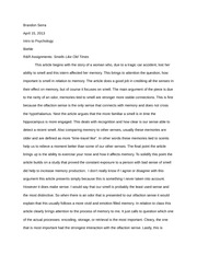 Essay - Smells Like Old Times