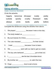 Grammar Worksheet Grade 1 Adjectives Sentences 1 Pdf Adjectives