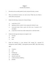 Chapter 1 Recitation Questions