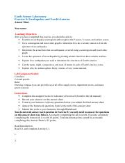 Exercise 6 Earthquakes Answer Sheet 8th edition.doc