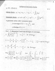 Infinite and geometric series notes
