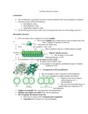 Cell Bio Term Test II notes