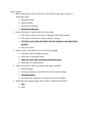 MGMT 451-Quiz 3 Answers