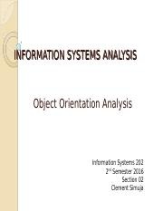 Object Oriented Analysis Concept and Principles