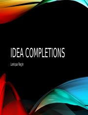 Idea completions