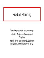 03- Product_Planning-Chap 4.ppt