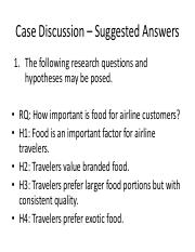 Case Discussion – United Airliens - Suggested Answers