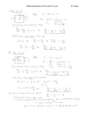 Differential Equations for RC and RL Circuits-2