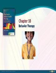 Ch18 -  Behavior Therapy.ppt