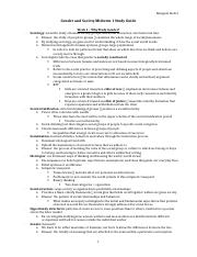 Gender and Society Midterm 1 Study Guide.docx