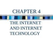 Lecture 4: The Internet