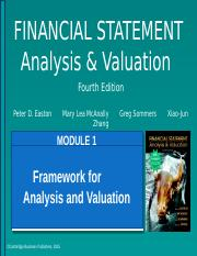 Module 01 PPT - FINANCIAL STATEMENT Analysis Valuation Fourth