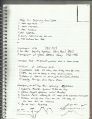 Geology Observing Data Notes