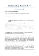 Parliamentary Research & IT_Worksheet no 2 - Md. Ohiduzzaman