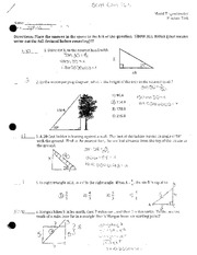 Mixed Trig Practice Test