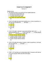 Assignment 9 - Answer Key