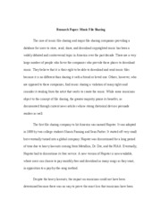 pro file sharing essay
