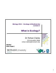 L01 Introduction to Ecology