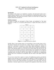 ECE 457 Project 2- Adversarial Search