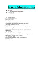 EarlyModernEra