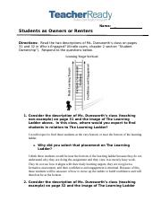 Students as Owners or Renters (2).docx