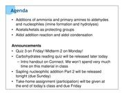 May 30 Nucleophilic additions to aldehydes and ketones Part 2 ink