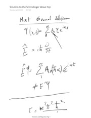 Solution to the Schrodinger Wave Eqn