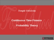 Continuous Time - Probability Theory