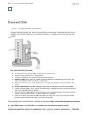 Incentive Spirometer Instructions.rtf