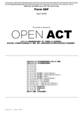 OPEN ACT Form 66F Apr 2009