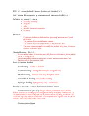 Lecture Outline 6 Elements and Minerals.doc