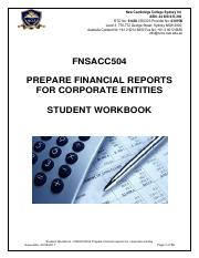 Student Workbook - Prepare financial reports for corporate entities - FNSACC504.pdf