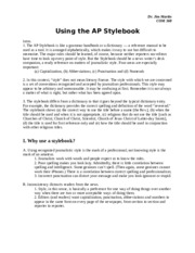 AP Stylebook lecture.doc
