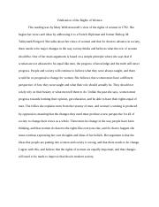 Vindication of the Rights of Women-write up.docx